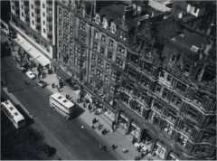 Princes Street in 1956 from the top of the Monument